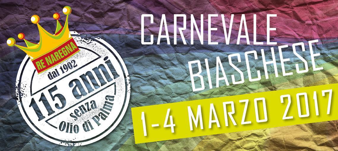 Carnevale Biaschese 115 anni senza olio di palma