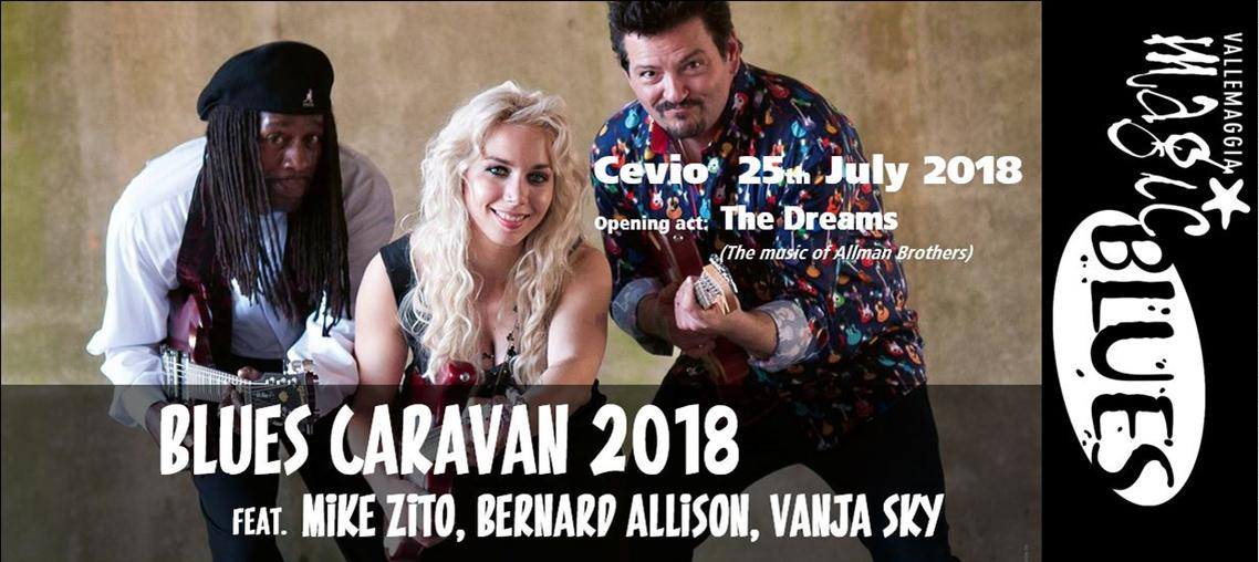 Blues Caravan 2018 feat. Mike Zito, Bernard Allison, Vanja Sky - Vallemaggia Magic Blues